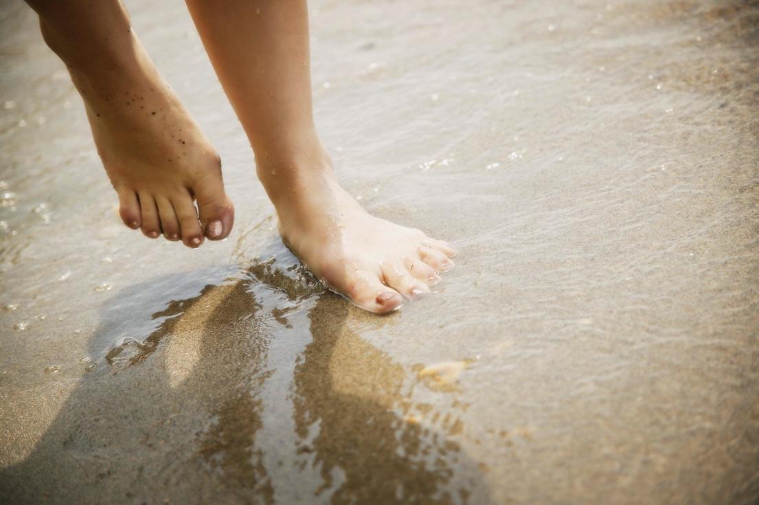 Water on feet